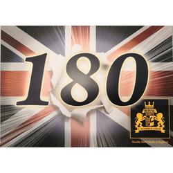 10 x 180er Schild Royal Darts