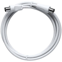 Axing Antennen Anschlusskabel [1x Antennenstecker 75Ω - 1x Antennenbuchse 75 Ω] 10m 85 dB