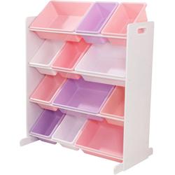 KidKraft® Regal rosa/flieder/weiß, mit Aufbewahrungsboxen