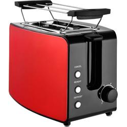 Team Kalorik Toaster TKG TO 1220 RD, 2 kurze Schlitze, 750 W, mit Toastzentrierung