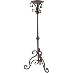 Ambiente Haus Wandkerzenhalter Kerzenständer - antikbraun 80cm (1 Stück) braun