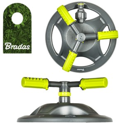 3-Arm Rasensprenger Sprinkler Regner Bewässerung Kreisregner LIME LINE Bradas 4383