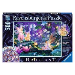 Ravensburger Puzzle Im Feenwald, Spezialserie Brilliant, 500 Puzzleteile