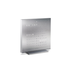 Tischuhr Qlocktwo Touch, Designer Biegert & Funk, 13.5x1.8 cm