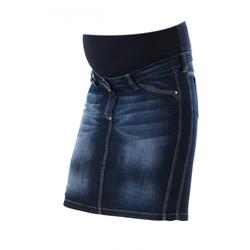 femininer stylischer Jeansrock Gotha Umstandsmode Christoff   blau   48