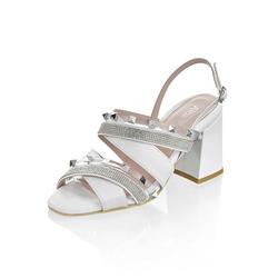 Alba Moda Sandalette mit Nieten weiß 39