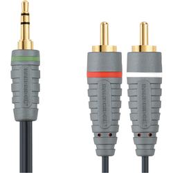 Bandridge 3,5 mm auf Cinch-Kabel 1 Meter