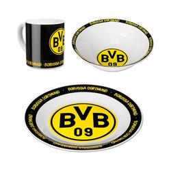 Borussia Dortmund Kindergeschirr-Set BVB-Keramik-Geschirr-Set (3er Set)