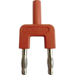 Schnepp 19/4mB/rt Kurzschlussstecker Rot Stift-Ø: 4mm Stiftabstand: 19mm 1St.