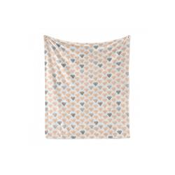 Foulard Gemütlicher Plüsch für den Innen- und Außenbereich, Abakuhaus, Abstrakt Pastellkristalldiamanten grau 125 cm x 175 cm
