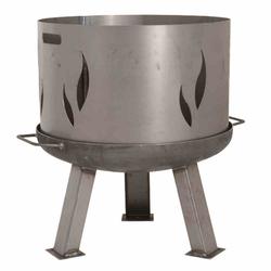 SIENA GARDEN Feuerschalenaufsatz, Stahl silber/anthrazit, passend zu der Feuerschale XXL Ø55cm, mit Flammendesign