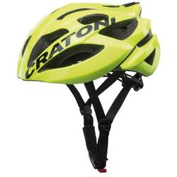 Cratoni Fahrradhelm Road-Fahrradhelm C-Bolt, Reflektoren, eingeschäumte Gurtbänder gelb 56/59 - 56 cm - 59 cm