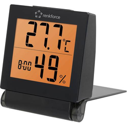 Renkforce Thermo-/Hygrometer Schwarz