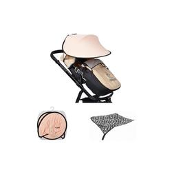 Cangaroo Kinderwagenschirm Universal Sonnenschutz, für den Kinderwagen Schutz vor Sonne Wind Staub rosa