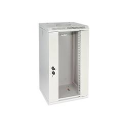 HMF Serverschrank 10 Zoll, 6-12 HE Netzwerk-Switch (12 HE, Netzwerkschrank voll Montiert, 31,2 x 30 x 61,6 cm, Lichtgrau) grau 31.2 cm x 61.6 cm x 30 cm