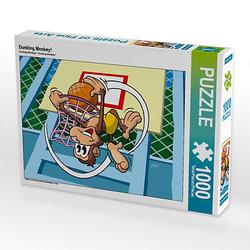 Dunking Monkey! Lege-Größe 64 x 48 cm Foto-Puzzle Bild von jokatoons Puzzle