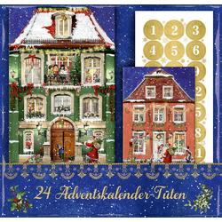 24 Adventskalender-Tüten - Nostalgische Weihnachtsstadt
