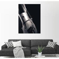 Posterlounge Wandbild, Geige auf schwarzem Hintergrund 60 cm x 80 cm