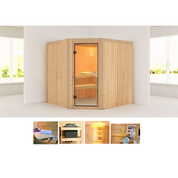 KONIFERA Sauna Ansa, BxTxH: 196 x 196 x 198 cm, 68 mm, ohne Ofen