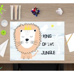cover-your-desk.de Schreibtischaufsatz Schreibtischunterlage für Kinder – King of the jungle – 60 x 40 cm – aus hochwertigem Vinyl, (1-St)