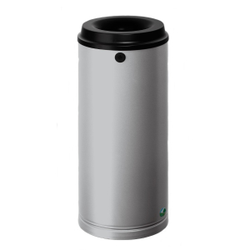 VAR Papierkorb 15 Liter, Mit Wandhalterung und Schloss, Farbe: silber
