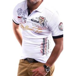 behype Poloshirt TRIP in Piqué-Qualität weiß 4XL