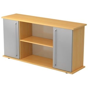 Sideboard SB2T Relinggriff - Buche/Silber