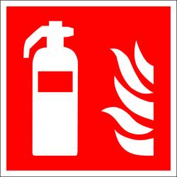 Brandschutzschild Feuerlöscher Aluminium (B x H) 450mm x 450mm ISO 7010 1St.