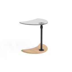 Stressless Beistelltisch USB Tisch A in Eiche mit schwarzem Gestell