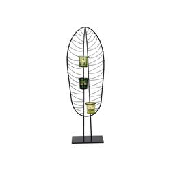 KARE Kerzenständer Teelichthalter Leaf Wire 67cm grau