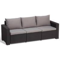 ALLIBERT California Loungesofa 3-Sitzer graphit/panama cool grey