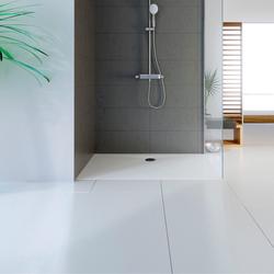 HSK plan Marmor-Polymer Duschwannen-Set 80 × 90 × 3,5 cm
