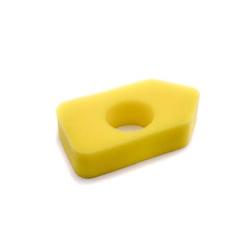vhbw Schaum-Luftfilter Ersatzfilter gelb passend für Rasenmäher Castelgarden XC 43 B