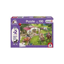 Schmidt Spiele Puzzle Puzzle 100 Teile Ausritt ins Grüne + 2, Puzzleteile