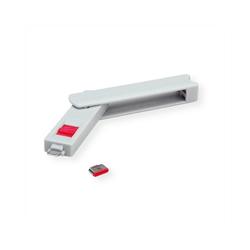 ROLINE USB Typ C Port Blocker, 1x Schloss und 1x Schlüssel Adapter
