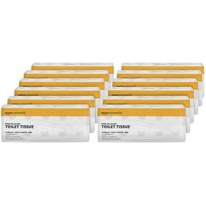 AmazonCommercial Toilettenpapier, 2-lagig, reine Zellulose, 120 Rollen