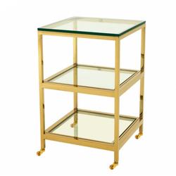 Casa Padrino Luxus Art Deco Designer Beistelltisch Gold 45 x 45 x H. 71 cm - Designer Beistelltisch Möbel