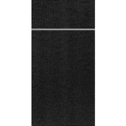 DUNI Duniletto-Slim Bestecktasche, Serviettentasche aus hochertigem Material, Maße: 40 x 33 cm, 1 Karton = 4 x 65 Stück, schwarz