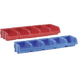 Hünersdorff 656820 Lagersichtbox Rot, Blau 1 Set