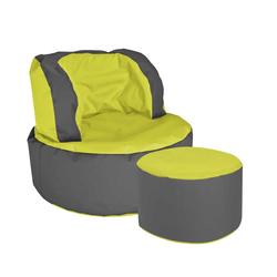 Sessel als Sitzsack Grün Grau