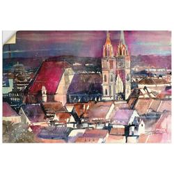 Artland Wandbild Nürnberg, Blick zur Lorenzkirche, Deutschland (1 Stück) 30 cm x 20 cm