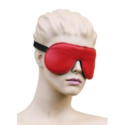 Bondag Leder Augenmaske Augenbinde mit Gummizug rot