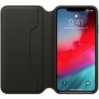 Apple iPhone XS Leder Folio Case schwarz