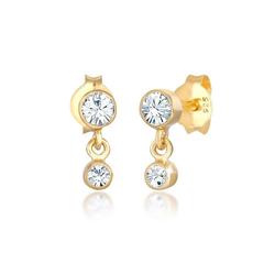 Elli Ohrhänger-Set Ohrhänger Swarovski® Kristalle 925 Silber, Kristall Ohrhänger goldfarben