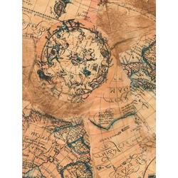 décopatch Motivpapier Décopatch-Papier Landkarte, 39 cm x 30 cm