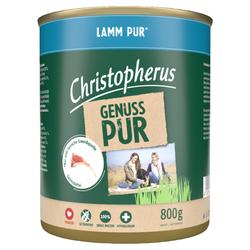 (4,12 EUR/kg) Christopherus Pur Lamm 800 g - 6 Stück