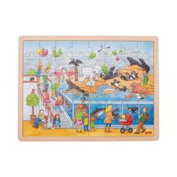 goki Puzzle Holzpuzzle 48 Teile Ausflug in den Zoo, Puzzleteile