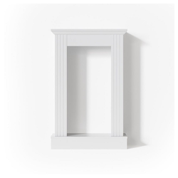 Vicco Kaminumbauschrank Kaminumrandung im Shabby Landhaus-Stil Kaminverkleidung 110x70 cm Weiß