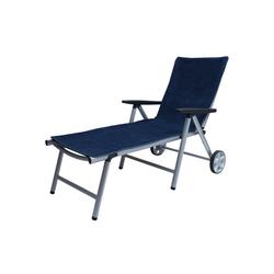 Beautissu Handtuch Marbella, für Sonnenliege 200x70cm blau