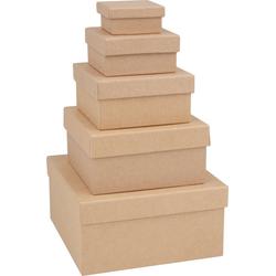VBS Aufbewahrungsbox Quadrat, 5erSet